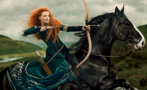 annieleibovitzdisneydreamportraits-Jessica-chastain-Merida-Brave